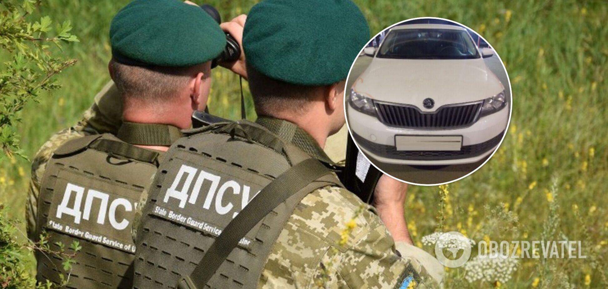 Россиянин пытался покинуть Украину на угнанном авто. Фото