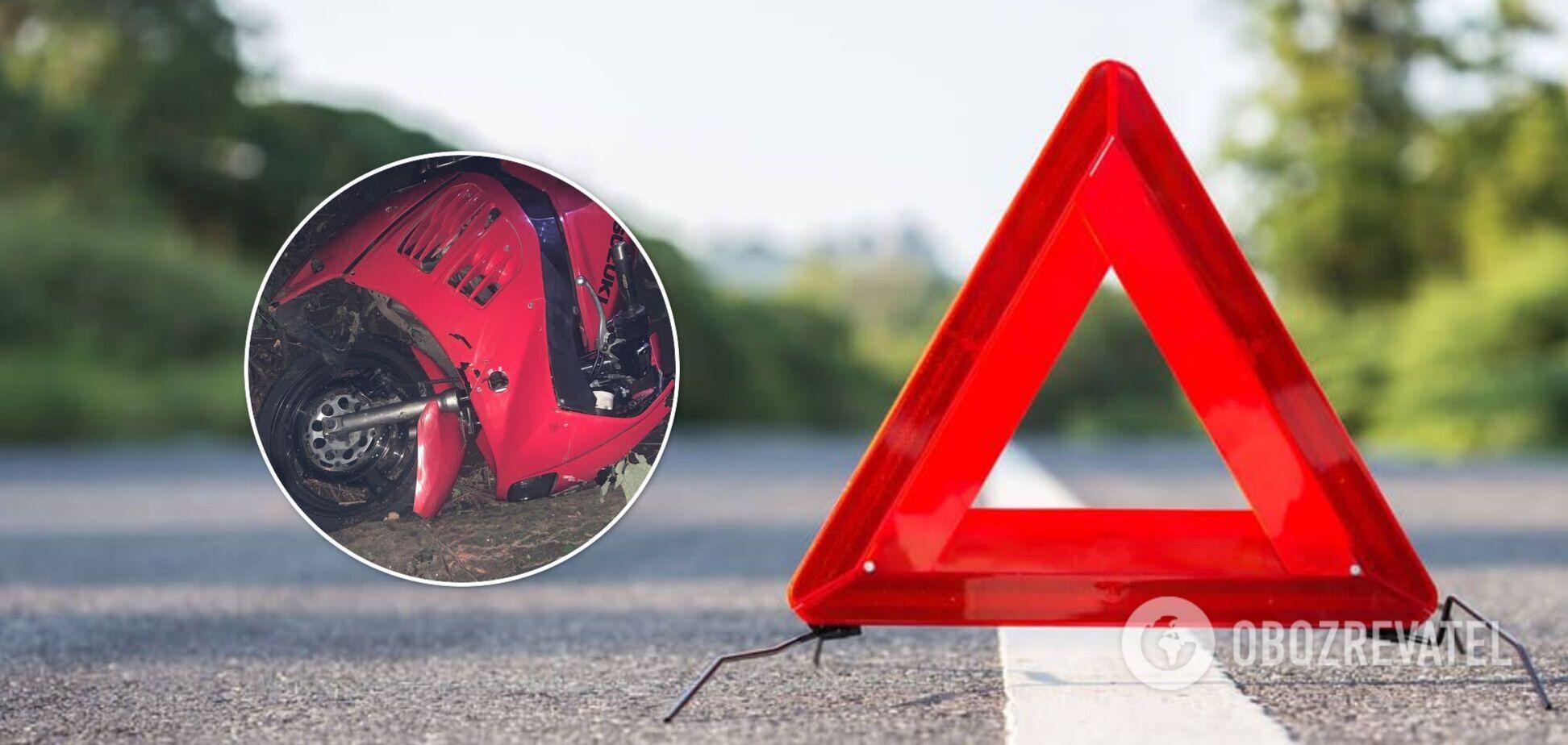 На Львовщине 16-летний парень слетел с мотоцикла и разбился насмерть. Фото
