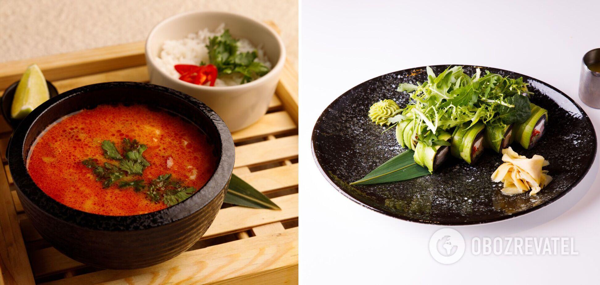 Азіатський обід від шеф-кухаря: корисний суп і роли без рису