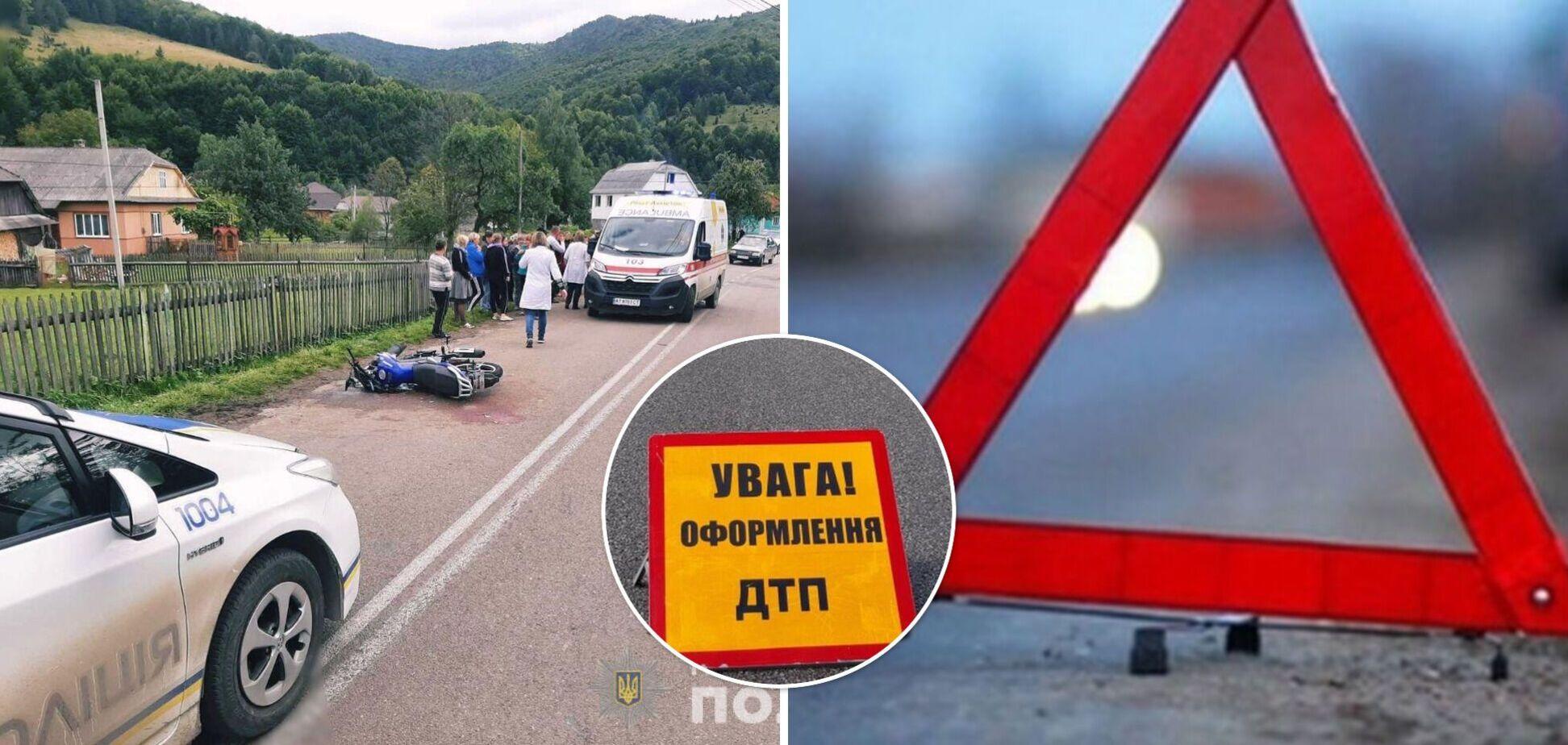 На Прикарпатье 16-летний мотоциклист сбил двух девушек: в полиции раскрыли подробности. Фото