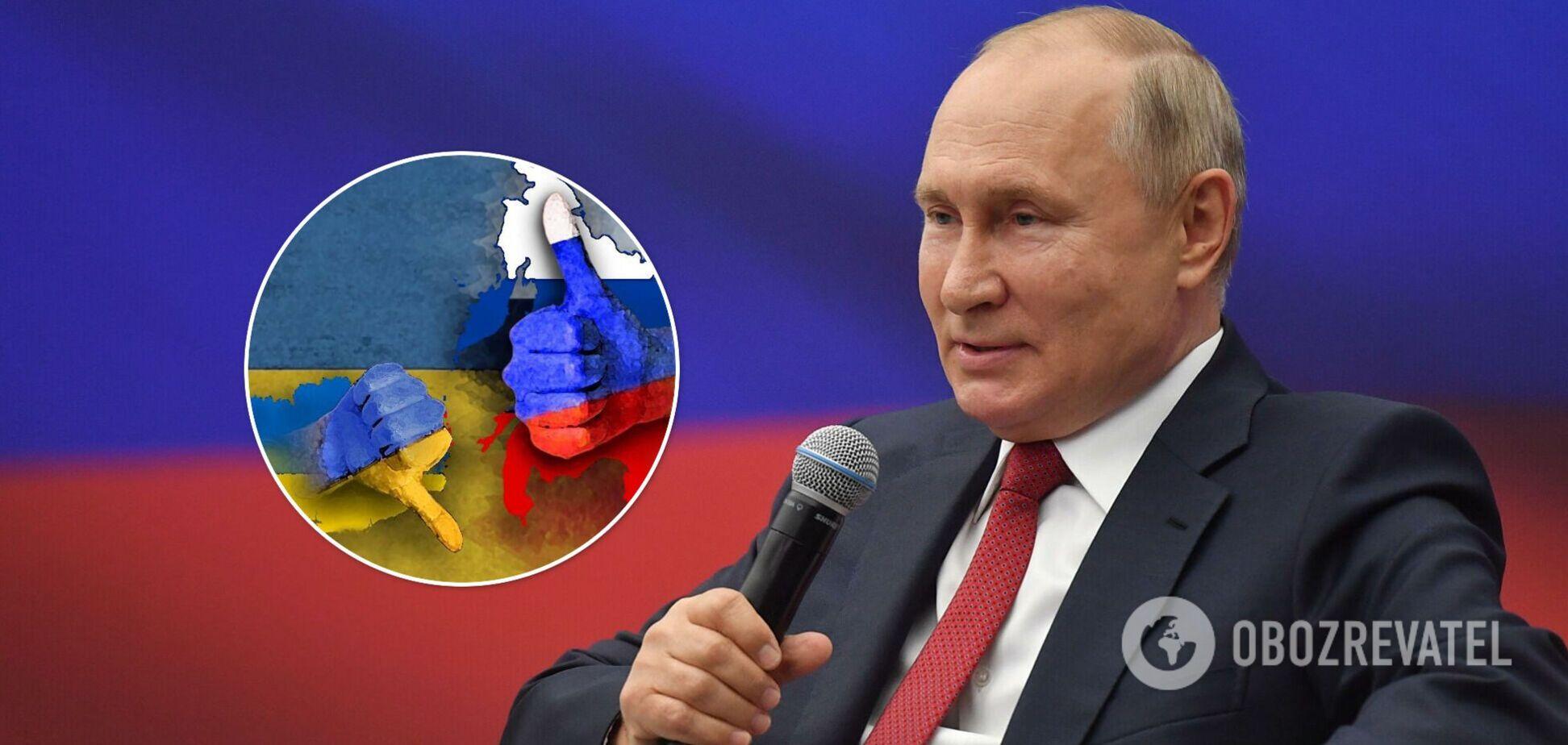 Путін назвав відносини Росії з Україною 'ненормальними' і заговорив про відновлення контактів