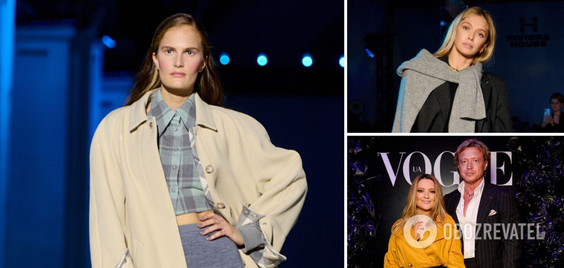 От Могилевской до Брежневой: в каких нарядах пришли звезды на Ukrainian Fashion Week 2021