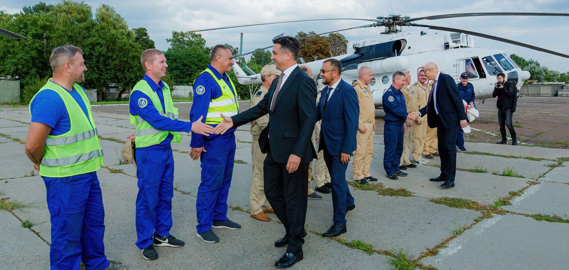 Украинские пожарные вертолеты вернулись из Турции