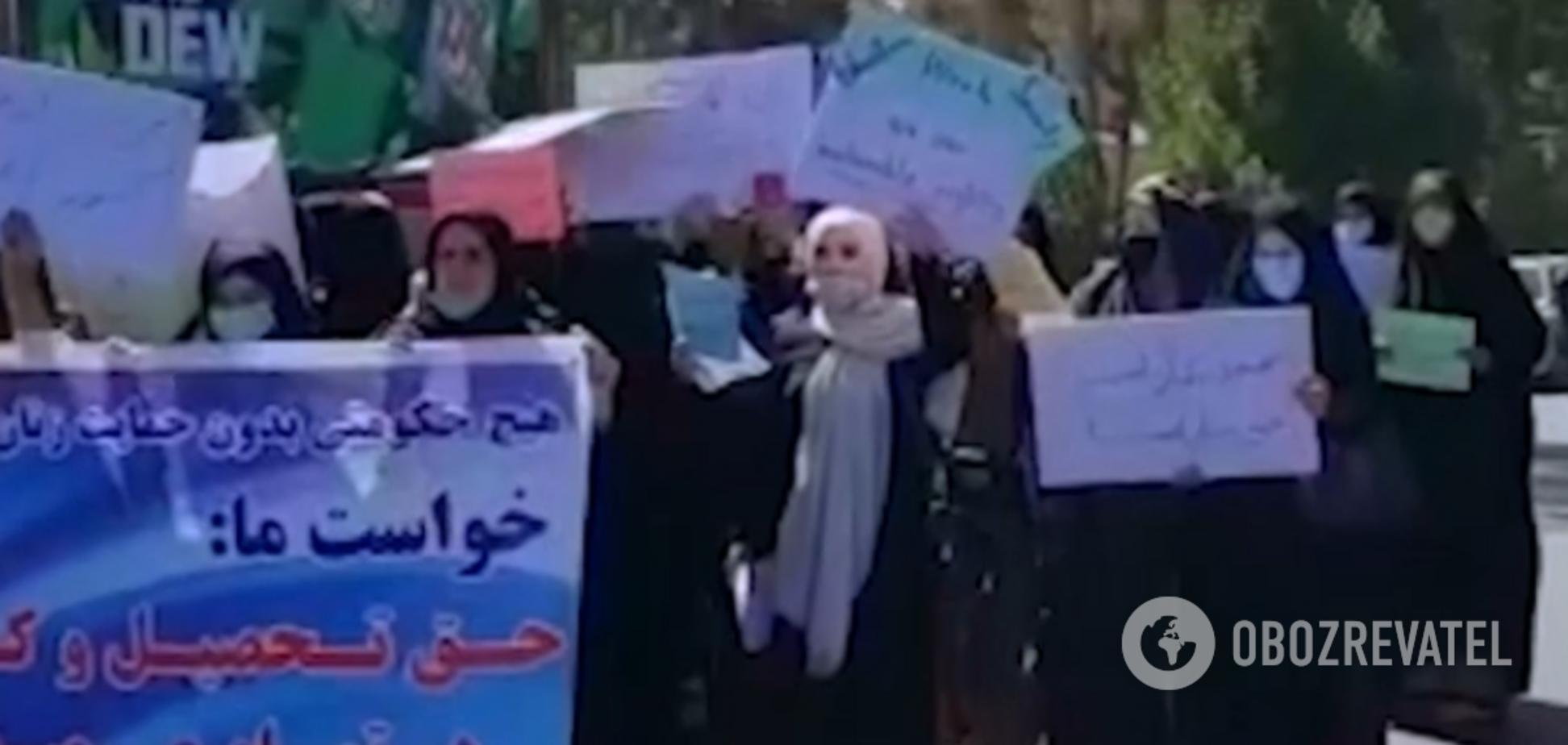 В Афганістані на протест вийшли жінки: яка була реакція талібів