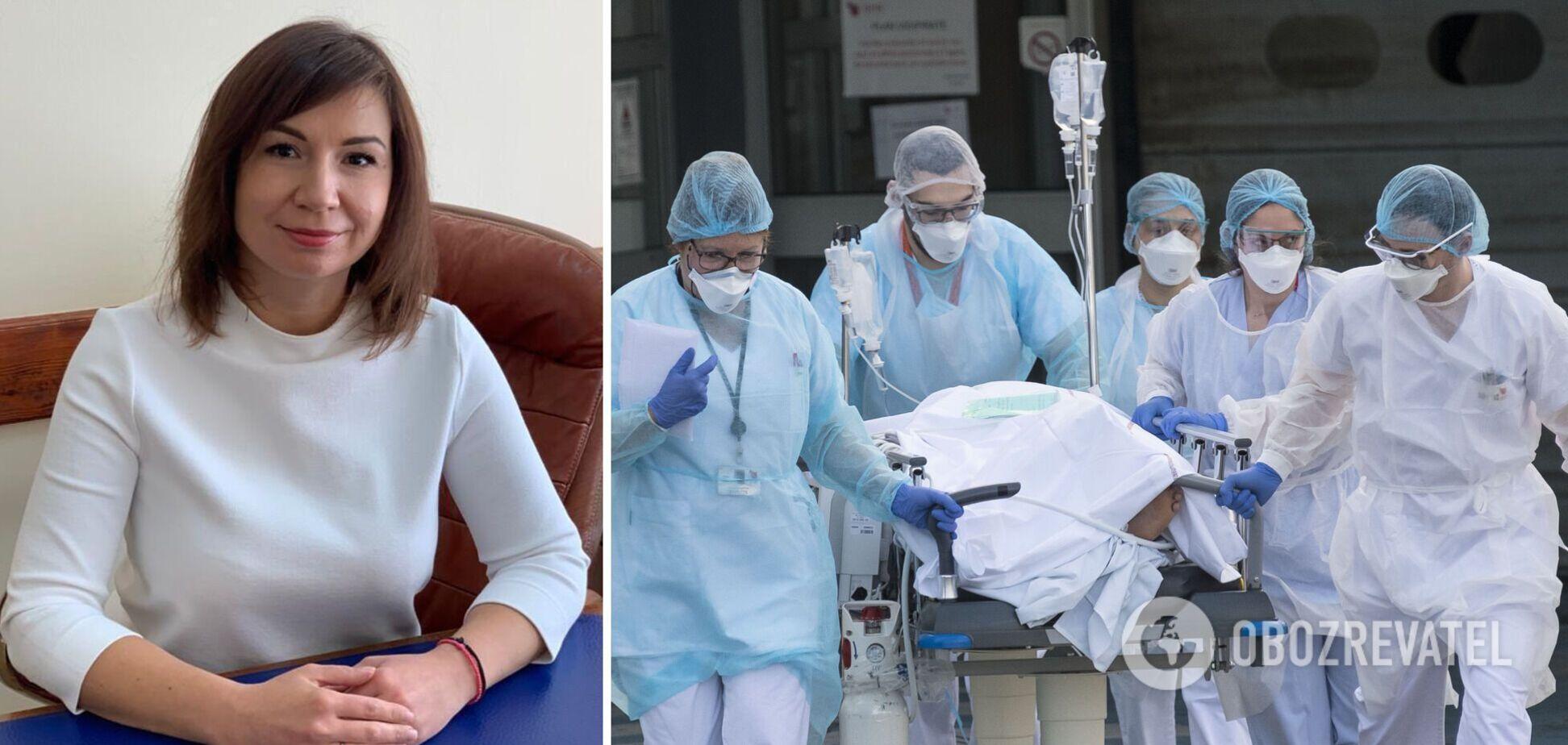 Главврач киевской больницы сказала, сколько привитых попадает в реанимацию