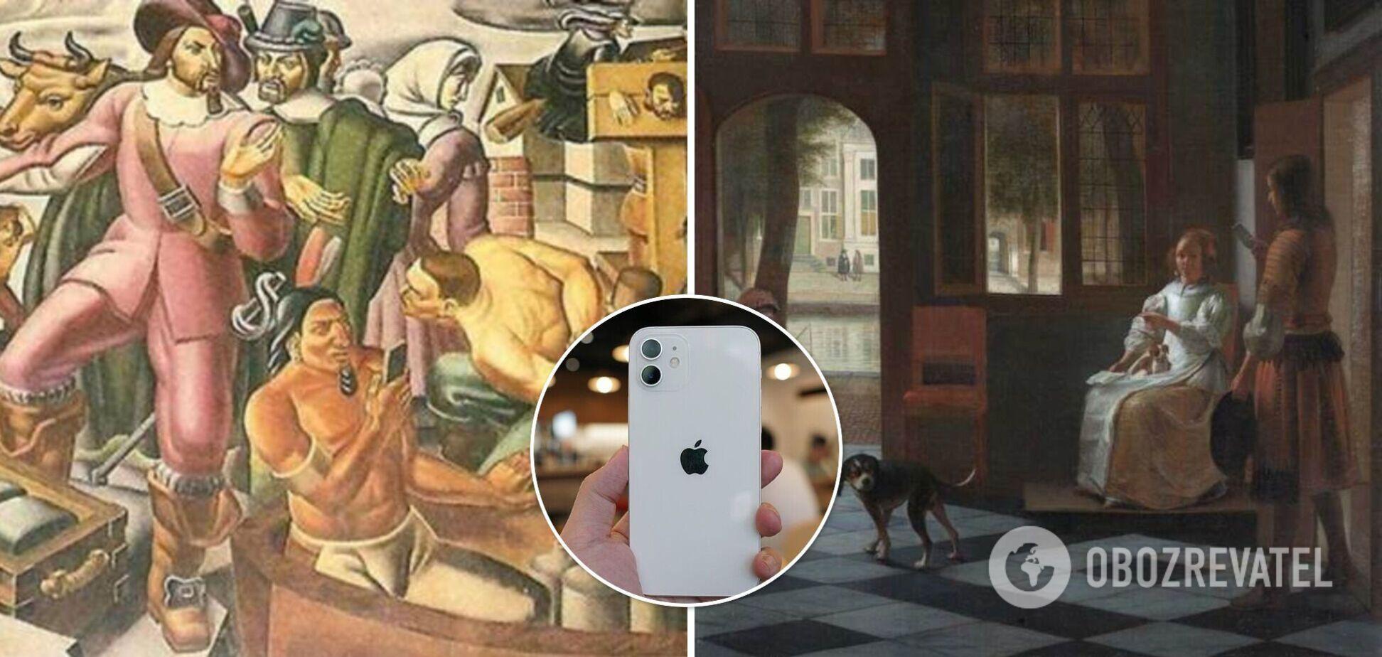 iPhone на старых картинах: в сети раскрыли правду о 'путешественниках во времени'