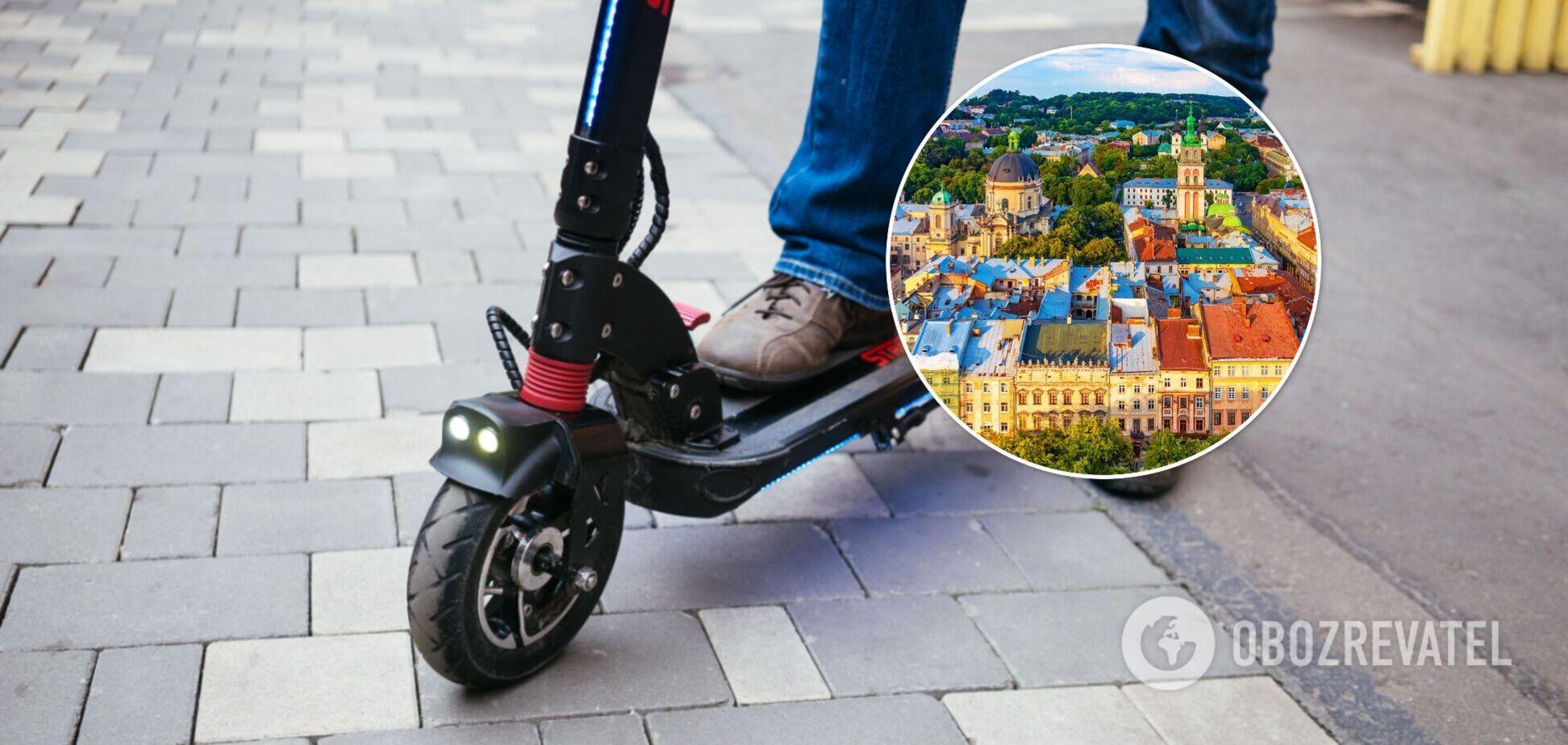 Во Львове суд запретил ездить по тротуарам на электросамокатах, признав их транспортними средствами