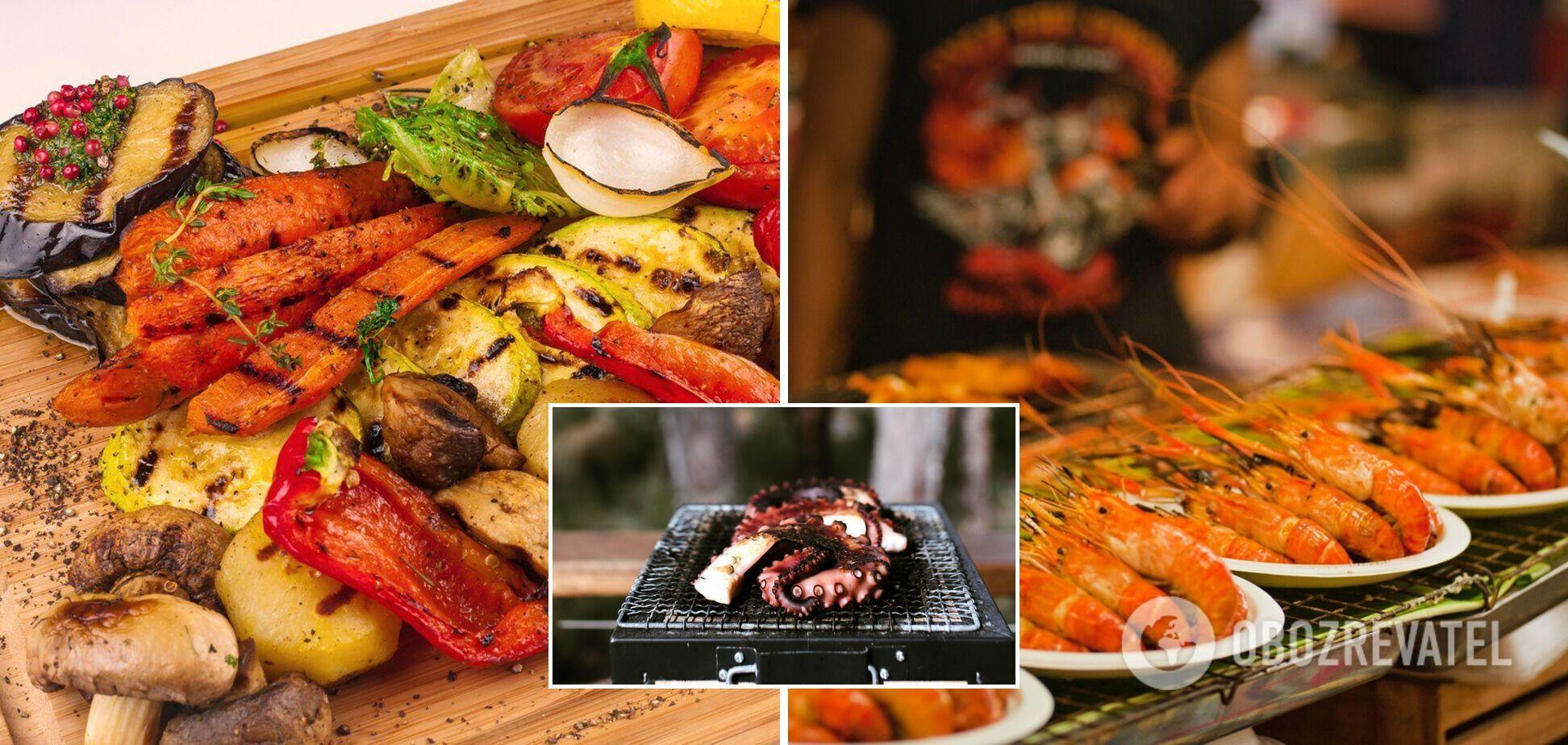 Вкусные блюда на гриле