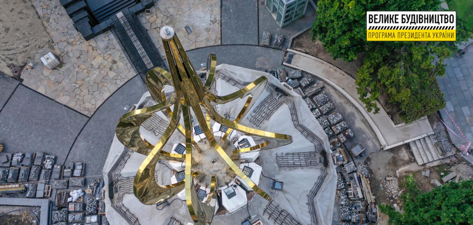 'Велике будівництво': за літо на Меморіалі жертвам Голодомору зроблено більше, ніж за попередні роки