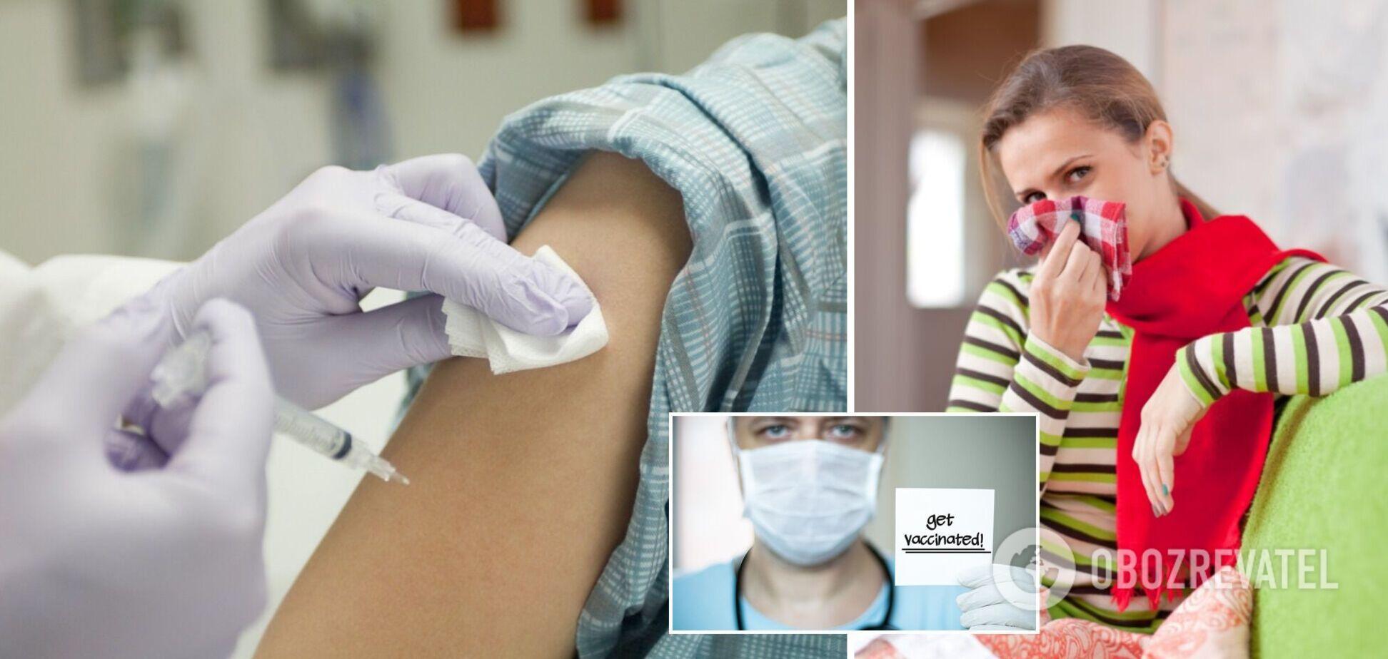 Какой интервал нужен между прививками от COVID-19 и гриппа: ответ Минздрава