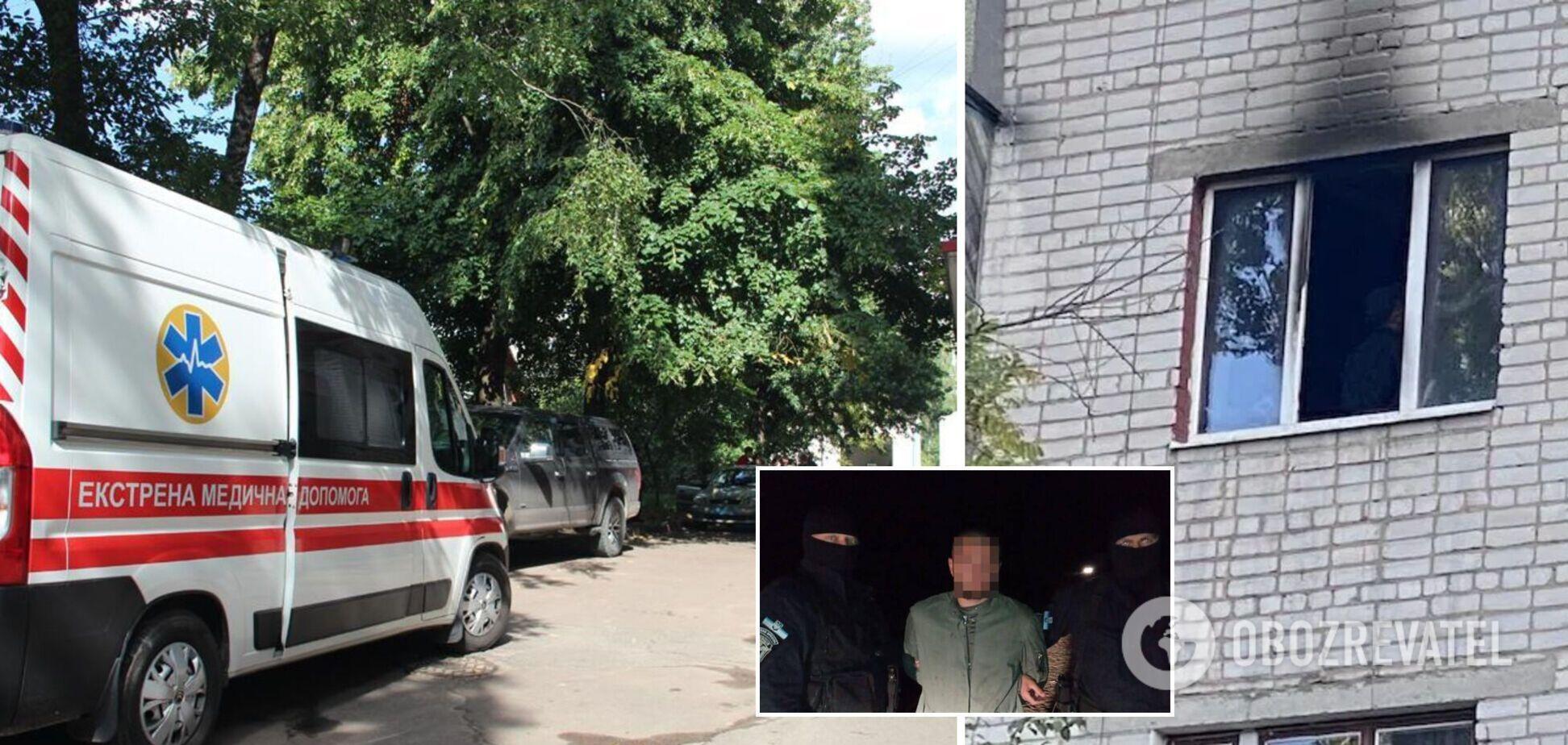 Убив жінку з дитиною і підпалив квартиру: на Житомирщині затримали підозрюваного в злочині. Фото