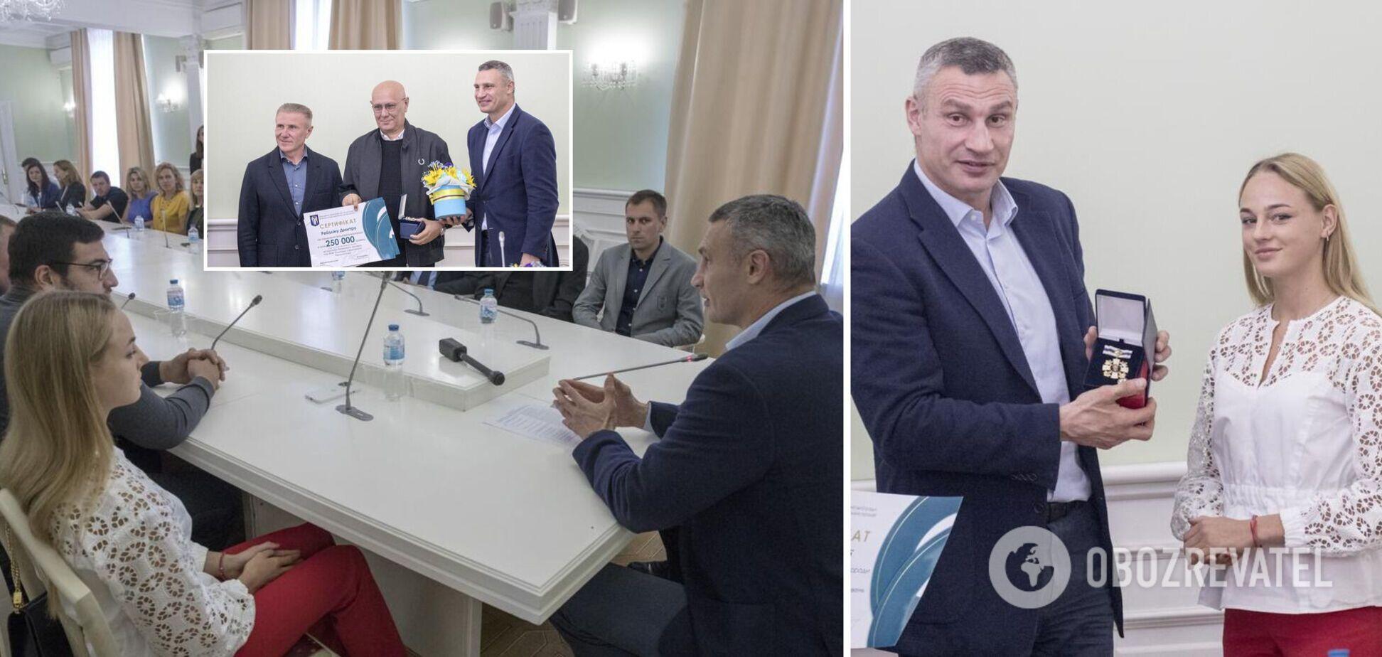 Кличко наградил киевлян-призеров Олимпийских игр в Токио