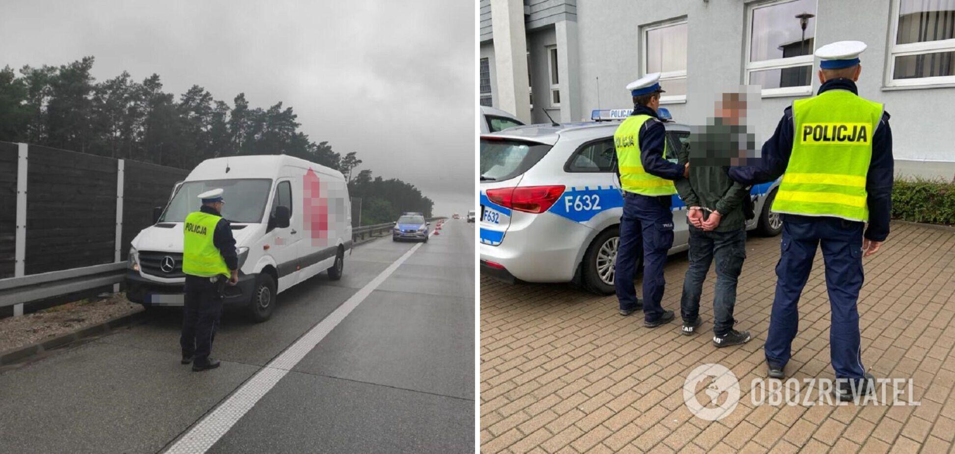 У Польщі затримали українця, який намагався втекти на викраденому авто. Фото