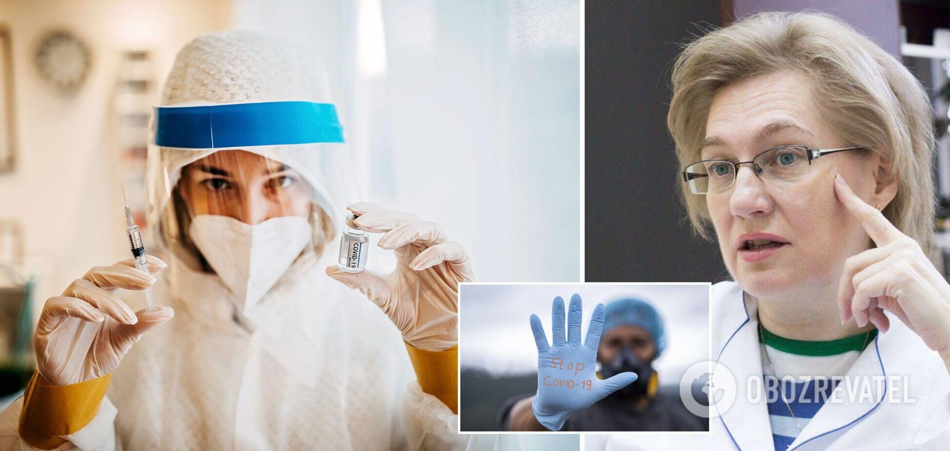 Голубовська – про вакцинацію лікарів від COVID-19: необґрунтовано давати загальні рекомендації