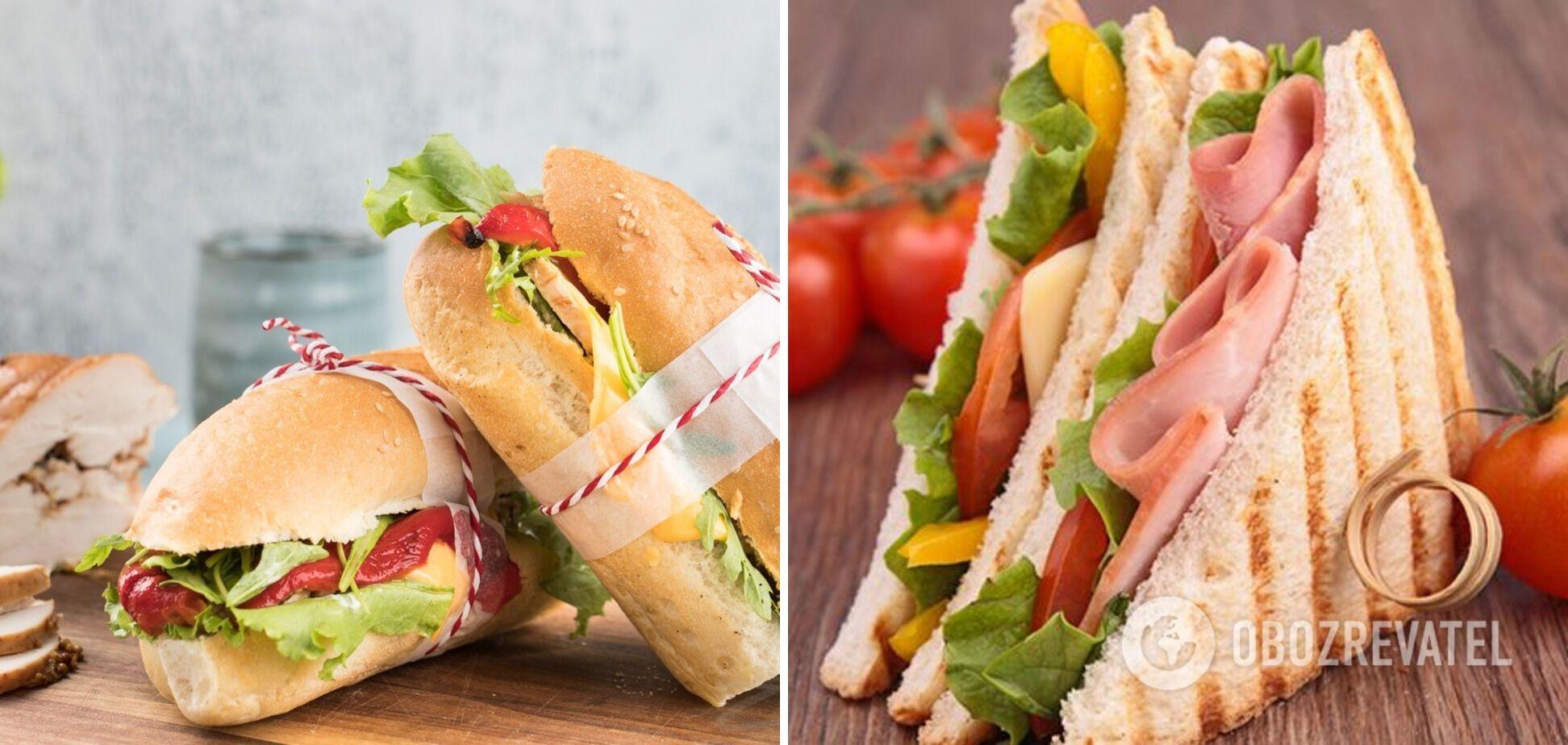 Быстрые сэндвичи для завтраков: приготовление из простых ингредиентов