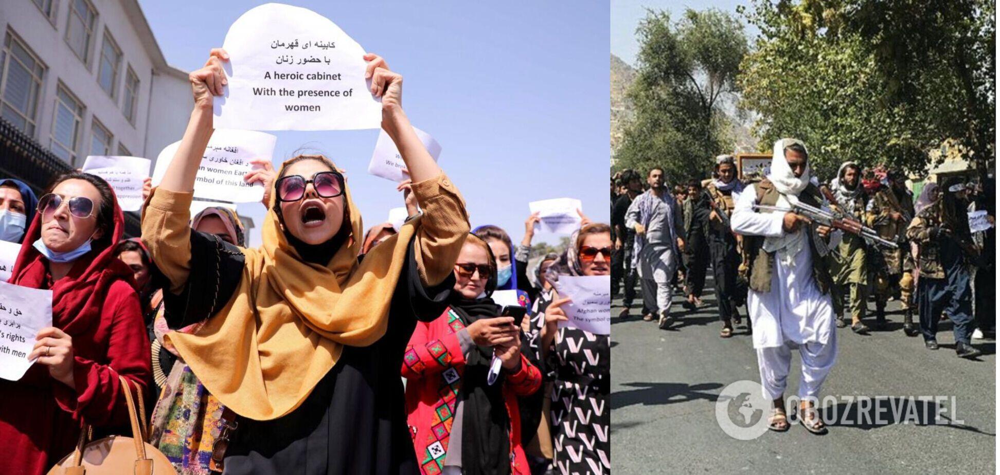 Митингующие требовали обеспечить участие женщин в управлении страной