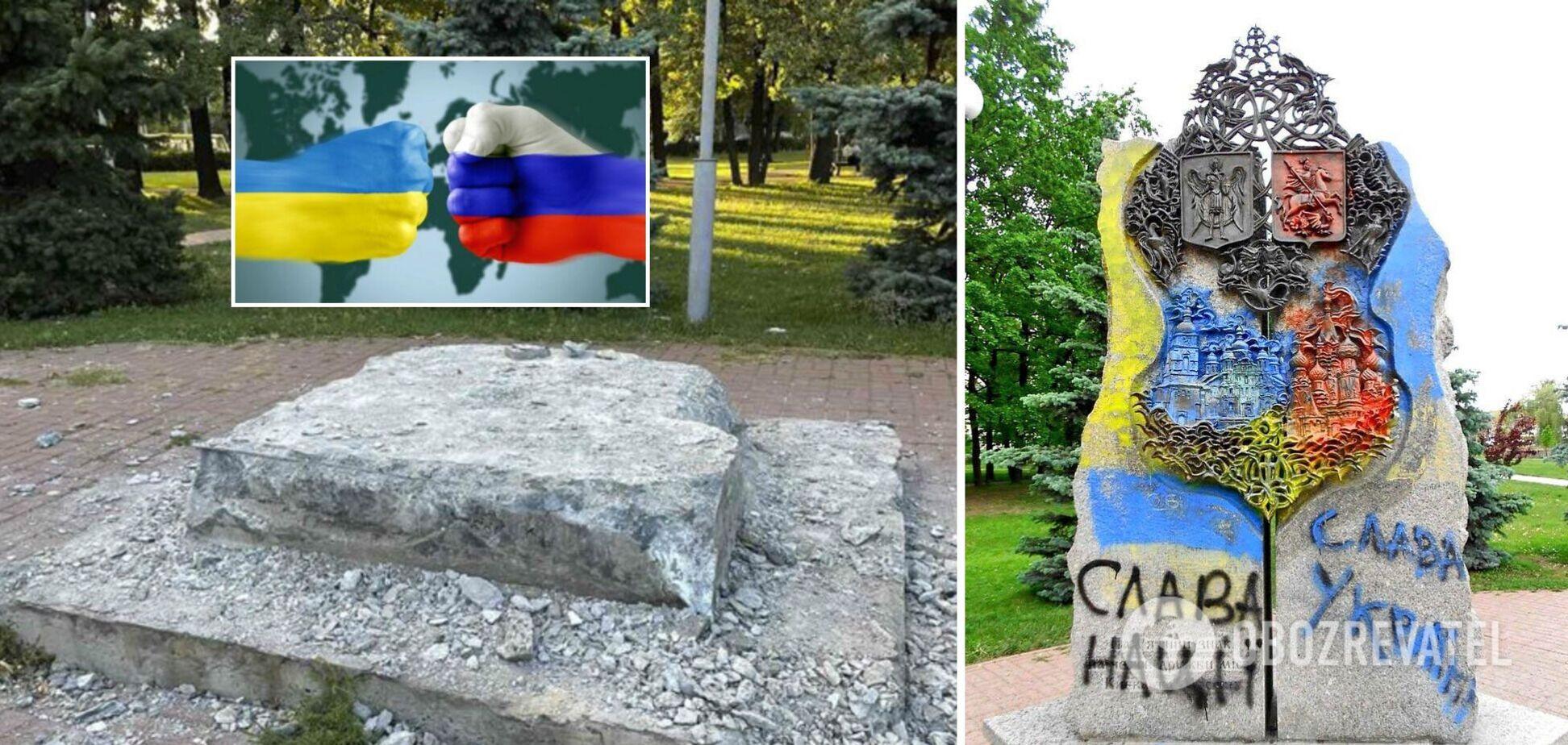 В Украине ответили на возмущения РФ из-за демонтажа памятника в Киеве: на танках дружба не строится