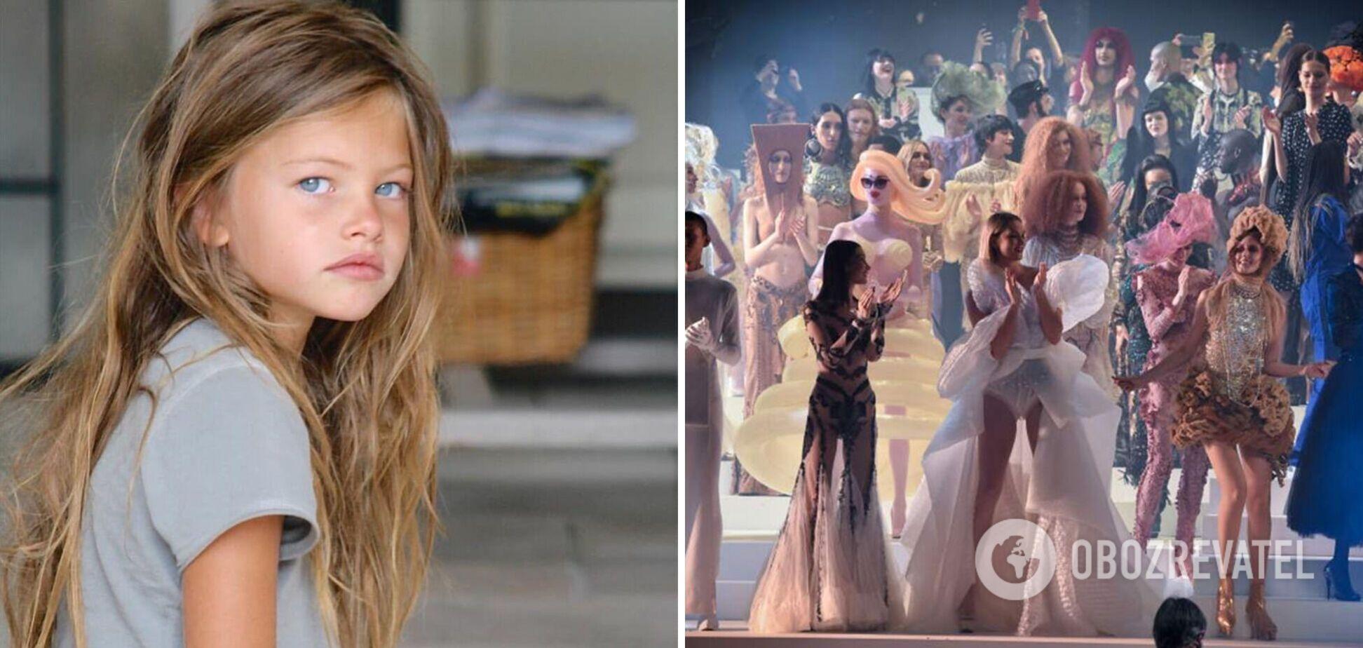 Тилан Блондо в шесть лет была 'самой красивой' девочкой в мире