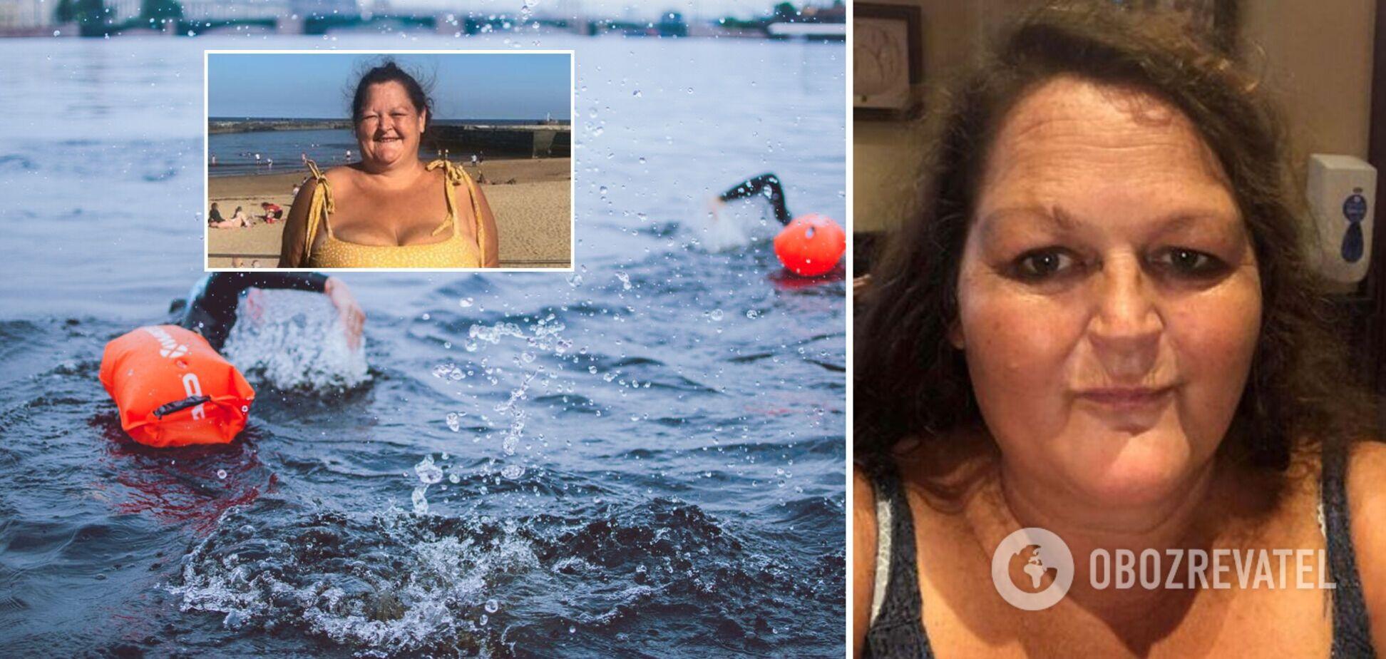 Женщина в отчаянии занялась плаванием и похудела на 101 кг за год. Фото до и после