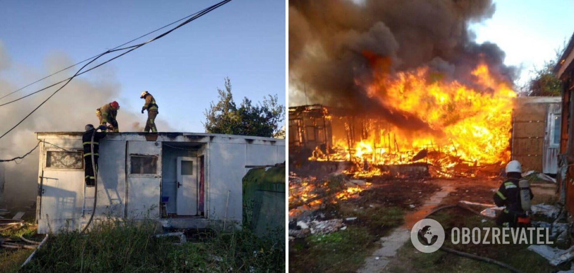 У Затоці трапилася масштабна пожежа на базі відпочинку. Фото