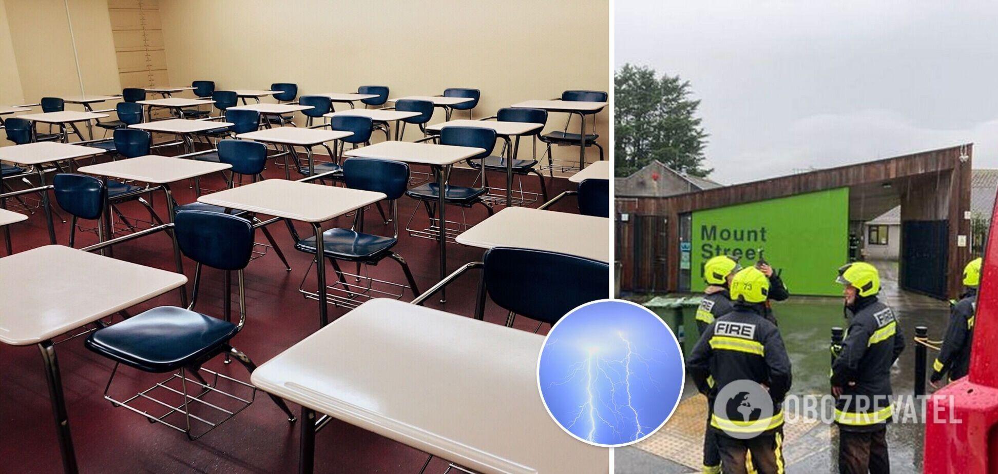 В Великобритании в школу ударила молния