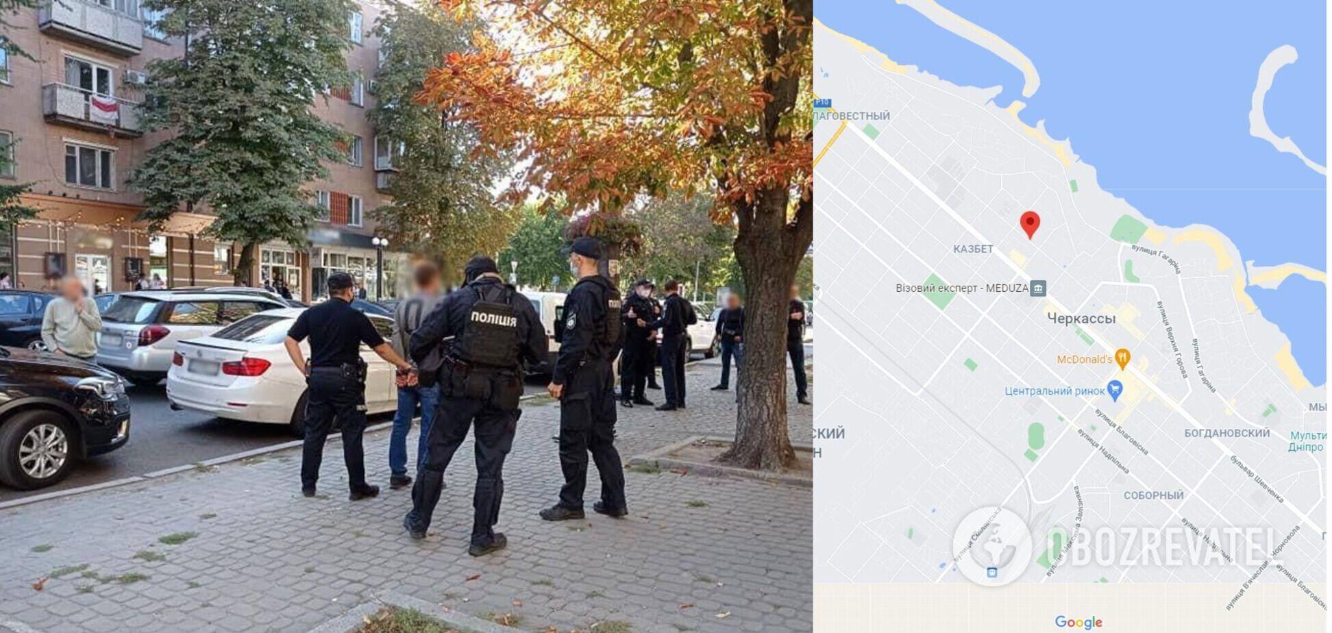 У центрі Черкас четверо чоловіків влаштували збройні розбірки. Фото