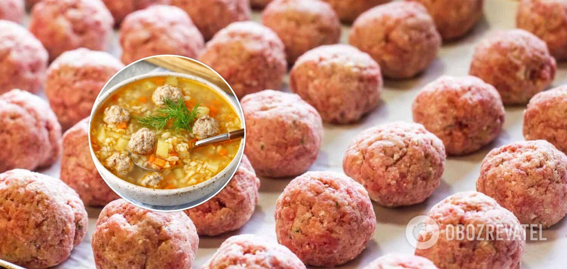 Суп з фрикадельками – особливості приготування