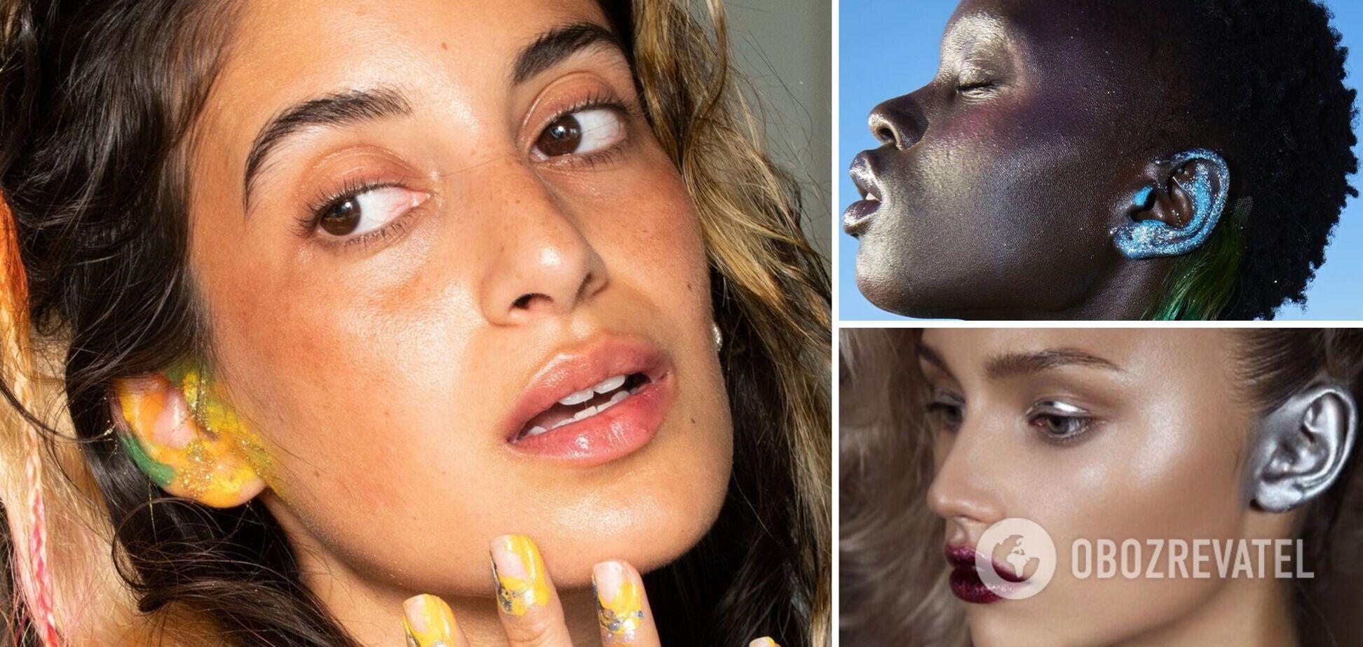 У мережі з'явився новий тренд: моделі почали фарбувати вуха. Фото