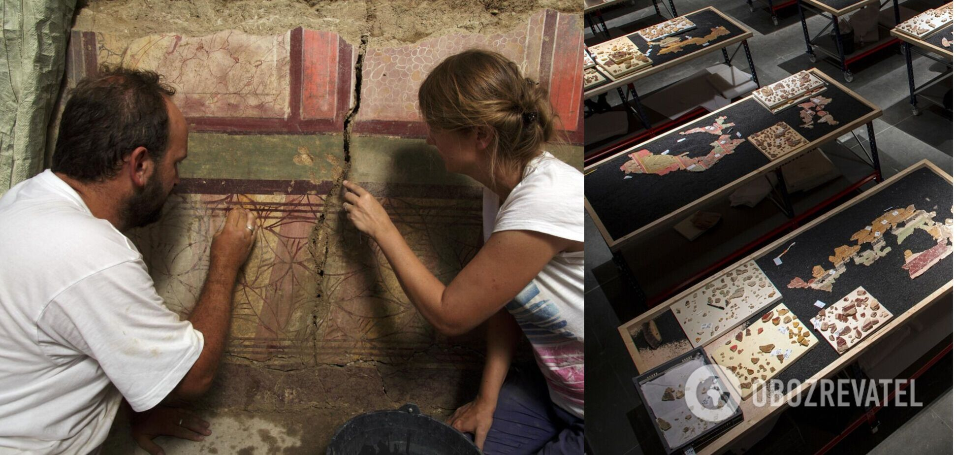 Во Франции обнаружили настенные фрески, которым больше 2 тыс. лет. Фото