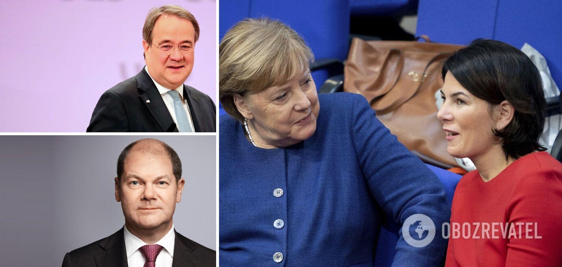 Заменить Ангелу Меркель на посту канцлера Германии могут Анналена Бербок, Армин Лашет или Олаф Шольц