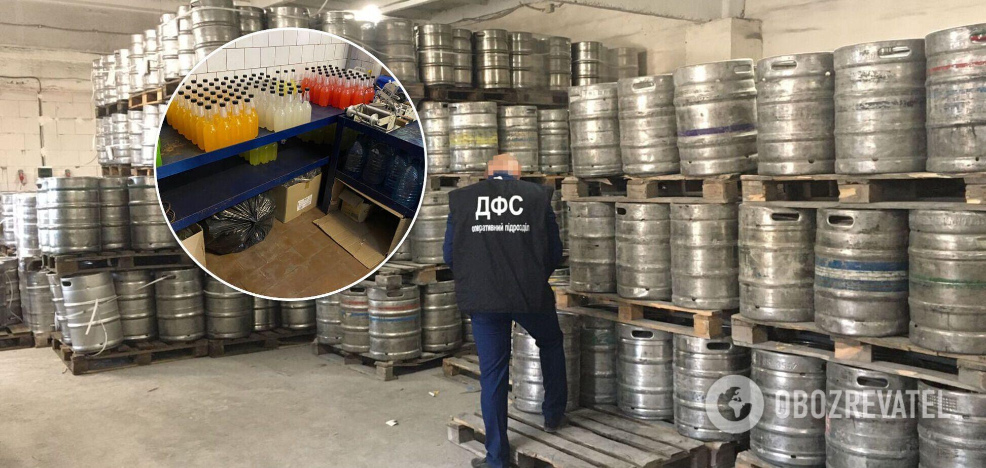 В Запорожье 'накрыли' подпольный алкогольный цех: изъят сидр на 3 млн гривен