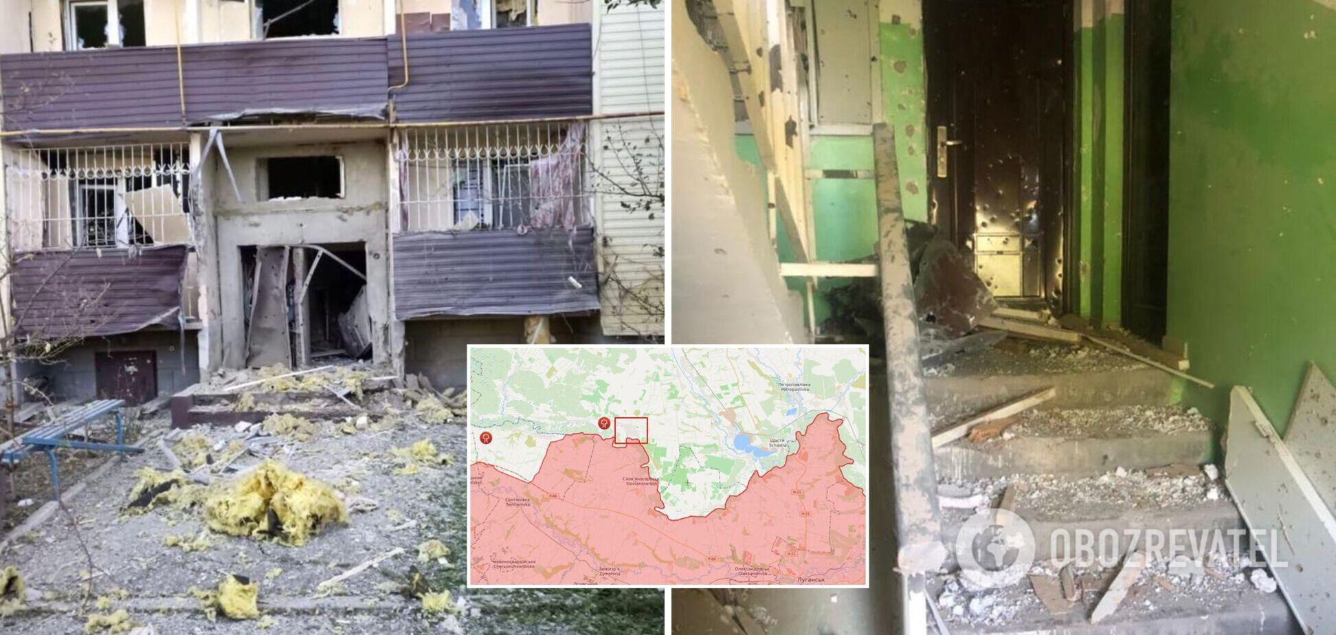 Наемники РФ обстреляли жилые многоэтажки на Луганщине. Фото