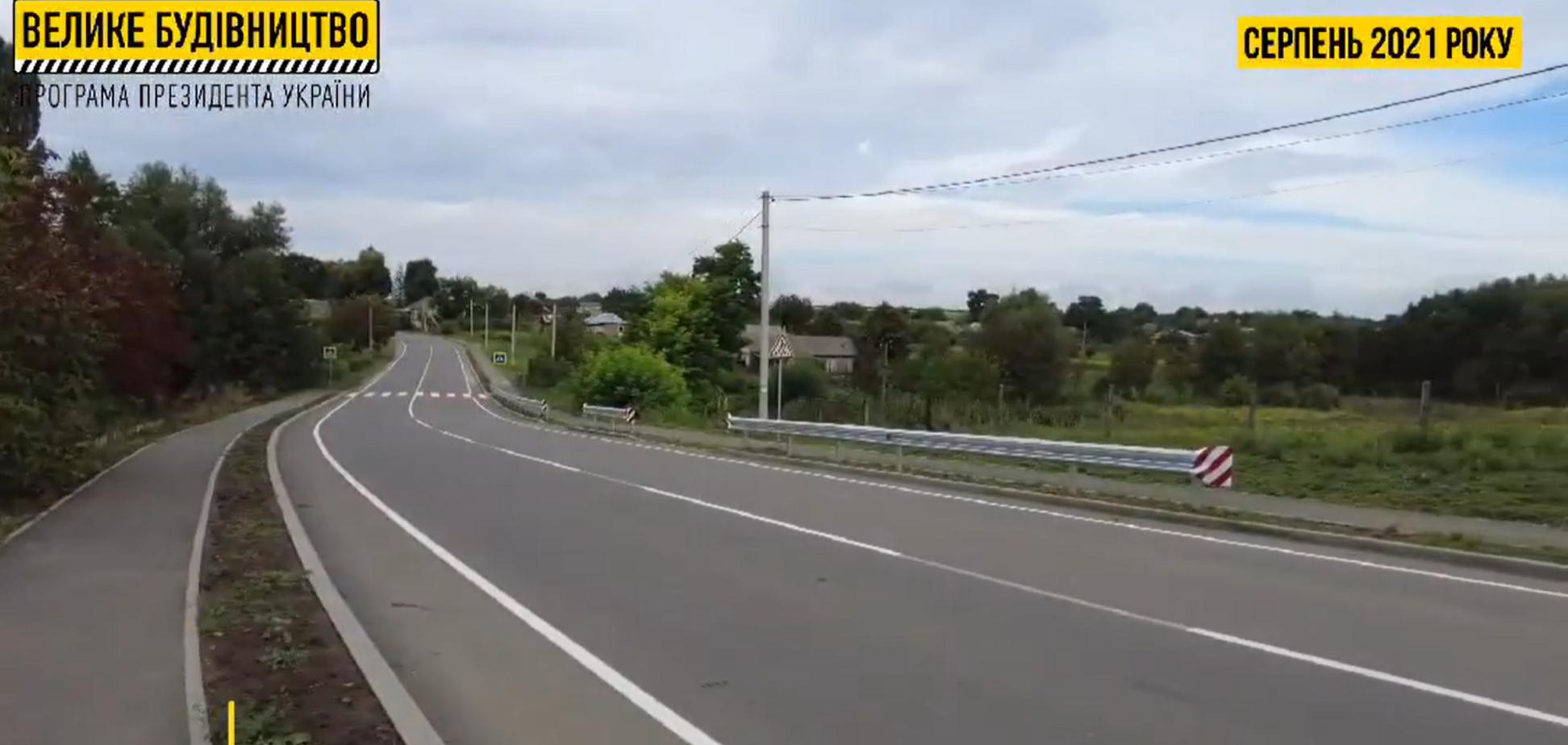 На Вінниччині показали, як 'Велике будівництво' Зеленського змінило вщент розбиту дорогу. Відео